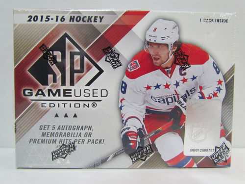 2015/16 Upper Deck SP Game Used Hockey Hobby Box