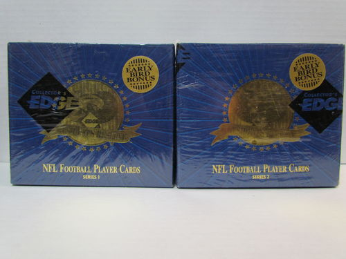 1996 Collector's Edge President's Reserve Series 1 & 2 Football Hobby Boxes