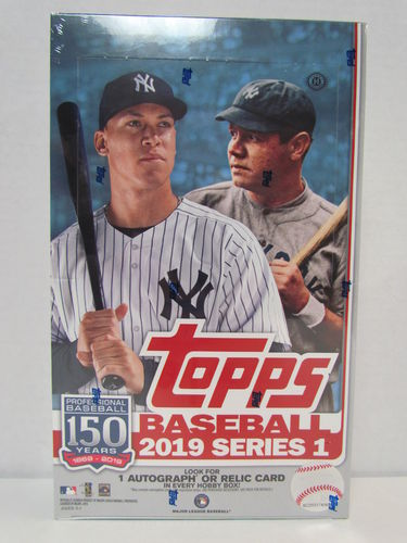 2019 Topps Series 1 Baseball Hobby Box (plus 1 silver pack)