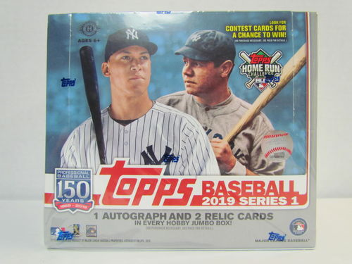 2019 Topps Series 1 Baseball Jumbo Box (plus 2 silver packs)