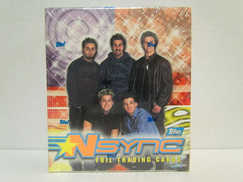Topps NSYNC Foil Trading Cards Box