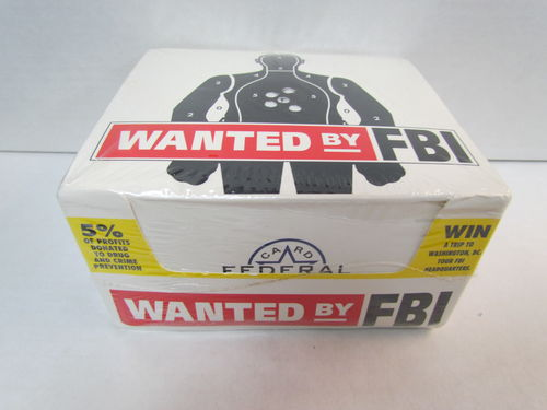 Federal Wanted by FBI Series 1 Trading Cards Box