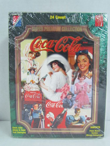 Collect-A-Card Coca-Cola Super Premium Collection Trading Cards Box