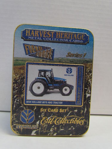 Ertl Collectibles Harvest Heritage Metal Collector Tractor Tin Set NEW HOLLAND (Missing Shrinkwrap)