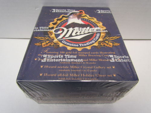 Sports Time Entertainment Miller Genuine Trading Cards Box