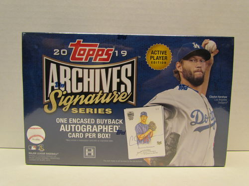 2019 Topps Archives Signature Series Active Player Edition Hobby Box