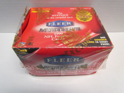 1999 Fleer Mystique Football Hobby Box (Shrinkwrap Torn)