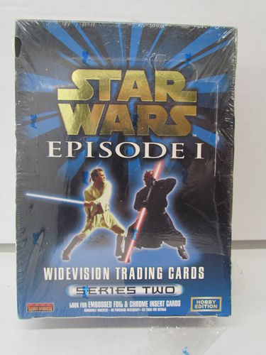 Topps STAR WARS EPISODE I Series Two Widevision Hobby Box (shrinkwrap issue)