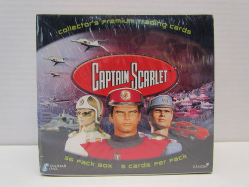 Carlton Cards Captain Scarlet Trading Cards Box