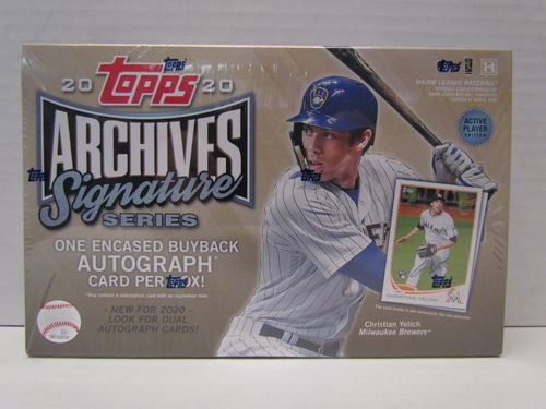 2020 Topps Archives Active Player Signature Series Baseball Hobby Box