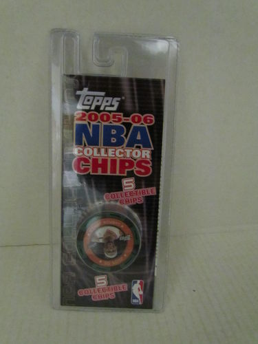 2005/06 Topps NBA Collector Chips Pack (Lebron James - Green)