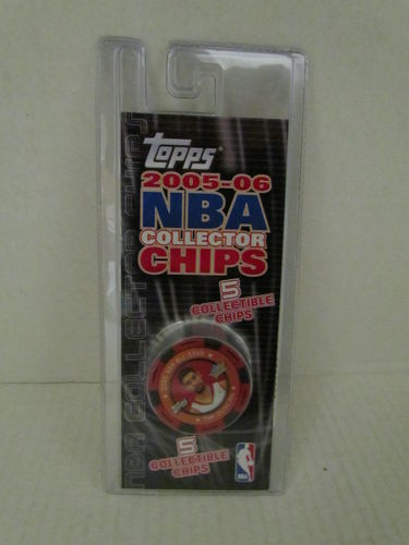 2005/06 Topps NBA Collector Chips Pack (Tim Duncan - Red)