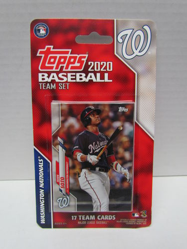2020 Topps Team Set Washington Nationals