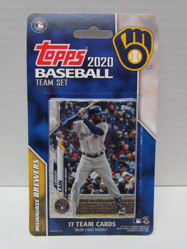 2020 Topps Team Set Milwaukee Brewers
