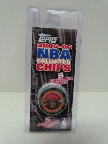 2005/06 Topps NBA Collector Chips Pack (Dwyane Wade - Green)