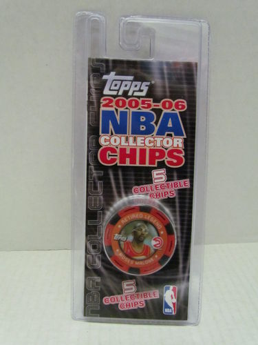 2005/06 Topps NBA Collector Chips Pack (Moses Malone - Red)
