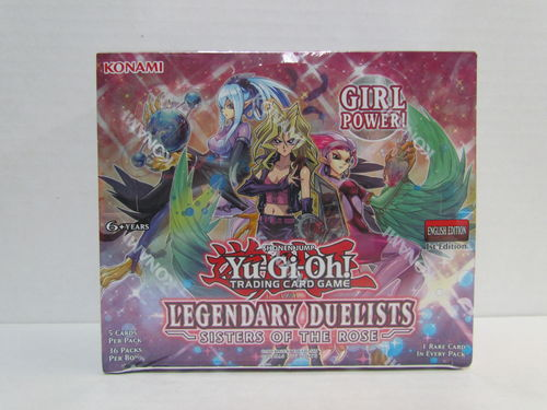 YuGiOh Legendary Duelists Sisters of the Rose 1st Edition Booster Box
