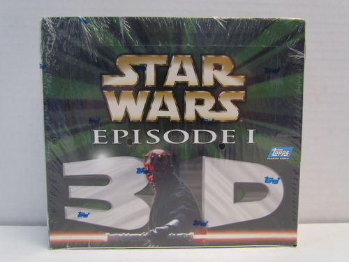 Topps Star Wars Episode I 3D Widevision Trading Cards Hobby Box