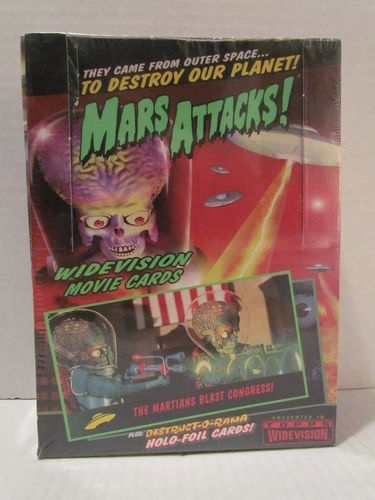 Topps Mars Attacks Widevision Trading Cards Hobby Box