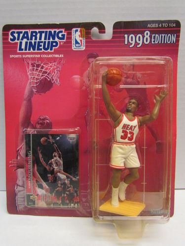 ALONZO MOURNING 1998 Starting Lineup Basketball Figure (package yellowed)