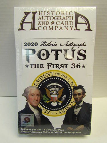 Historic Autographs POTUS The First 36 Trading Cards Hobby Box