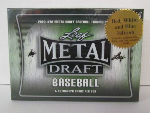 2020 Leaf Metal Draft Red White & Blue Edition Baseball Hobby Box