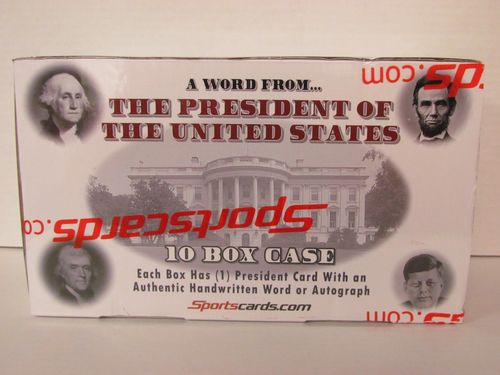 2020 Sportscards A Word from the President of the United States Hobby Box Case