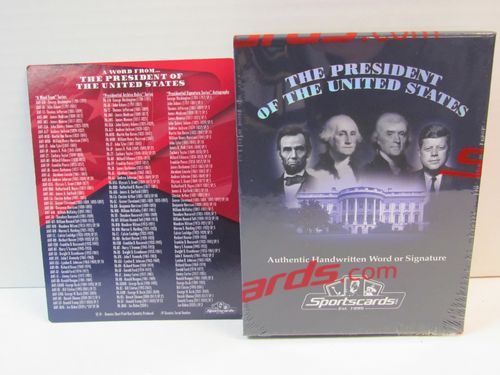 2020 Sportscards A Word from the President of the United States Hobby Box