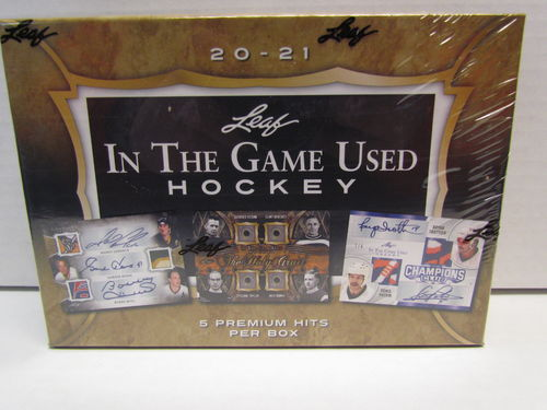 2020/21 Leaf In The Game Used Hockey Hobby Box