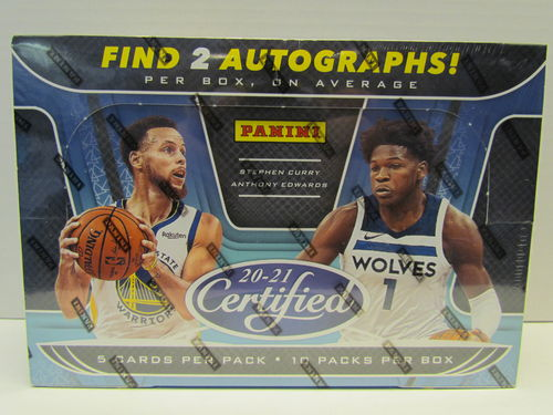 2020/21 Panini Certified Basketball Hobby Box